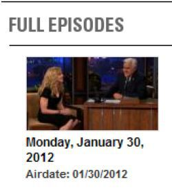 Madonna in ''The Tonight Show with Jay Leno'': Full Episode