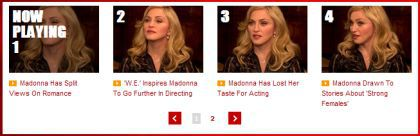 Interview with Madonna by MTV: 5 Videos - January 30, 2012