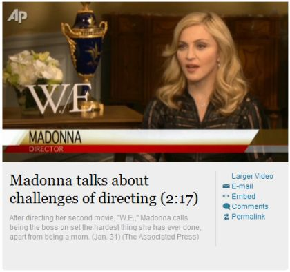 Interview with Madonna by The Associated Press - January 31, 2012