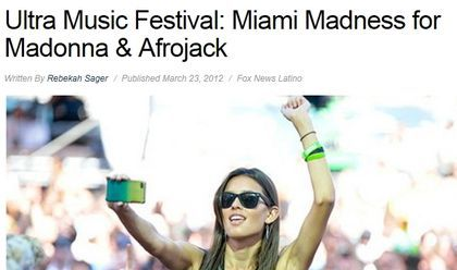 Madonna as a special guest at Ultra Music Festival ?