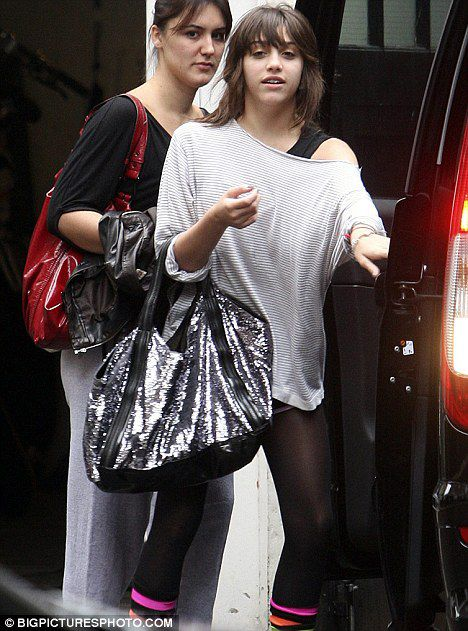 Lourdes leaving her mother's London residence on Oct. 21, 2009