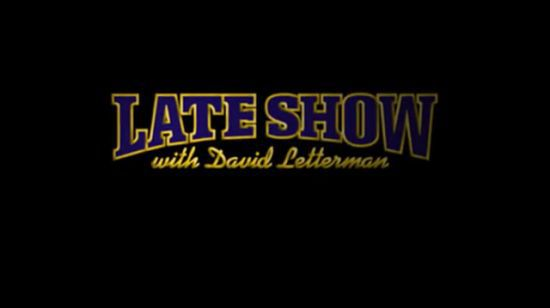 US TV: Madonna on ''The Late Show with David Letterman'' on Sept. 30, 2009