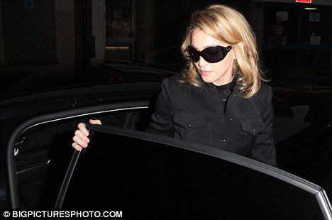 Madonna arrives in London on Oct. 21, 2009