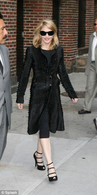 Madonna leaving the ''Late Show with David Letterman'' on Sept. 30, 2009