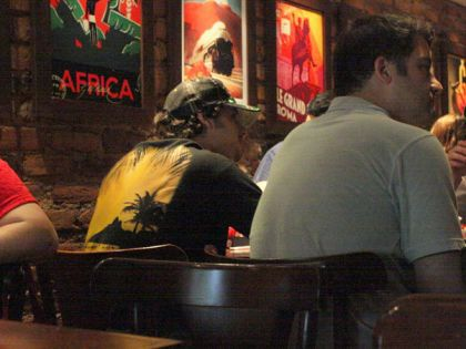 While Madonna is in Sao Paulo, Jesus Luz lunches in Rio