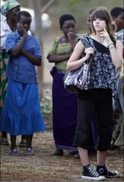More photos of Madonna and her children at the Mphandula Child Care Centre in Malawi