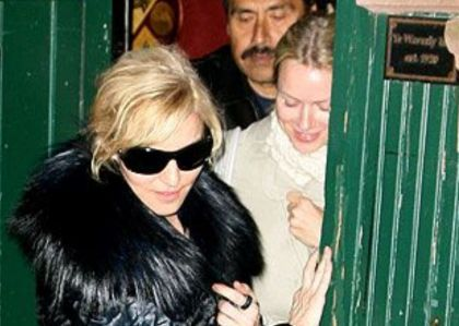 Madonna and Naomi Watts at the Waverly in New York on Nov. 5, 2009