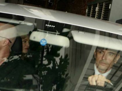 Madonna going to the airport in Rio to go to Sao Paulo, Brazil on Nov. 12, 2009