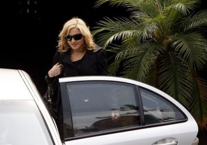 Madonna leaves the House of the Knowledge in Sao Paulo, Brazil on Nov. 12, 2009