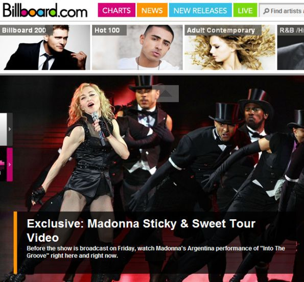 Exclusive: Madonna Sticky & Sweet Tour Video