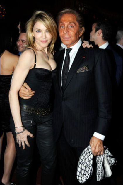 Madonna with Valentino at the DVD release party of ''Valentino: The Last Emperor''