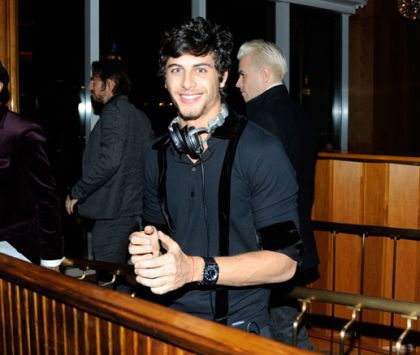 Jesus Lus, DJ at the DVD release party of ''Valentino: The Last Emperor''