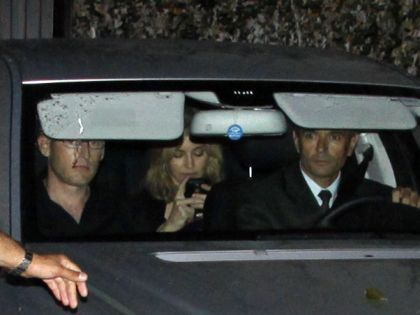 Madonna at Eike Batista's home with Angélica and Luciano Huck in Rio on Nov. 12, 2009