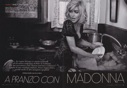 Madonna in the Dolce & Gabbana campaign: The First Images