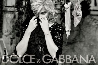 Madonna's D&G Spring-Summer 2010 Campaign: another ad