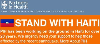 Madonna Stand With Haiti Partners In Health