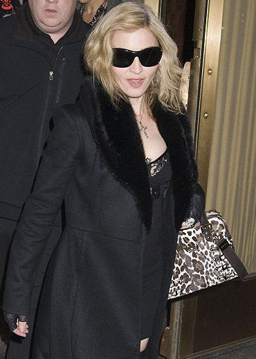 Madonna arriving at Lady Gaga show in NY