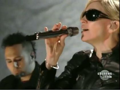 Madonna's rehearsals for 'Hope For Haiti Now' from CBS