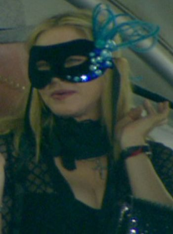 Madonna at Carnaval in Rio, Brazil on February 14, 2010