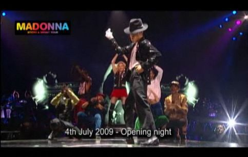 Sticky & Sweet Tour: Watch Madonna's Tribute to Michael Jackson at the Opening Night in London, UK
