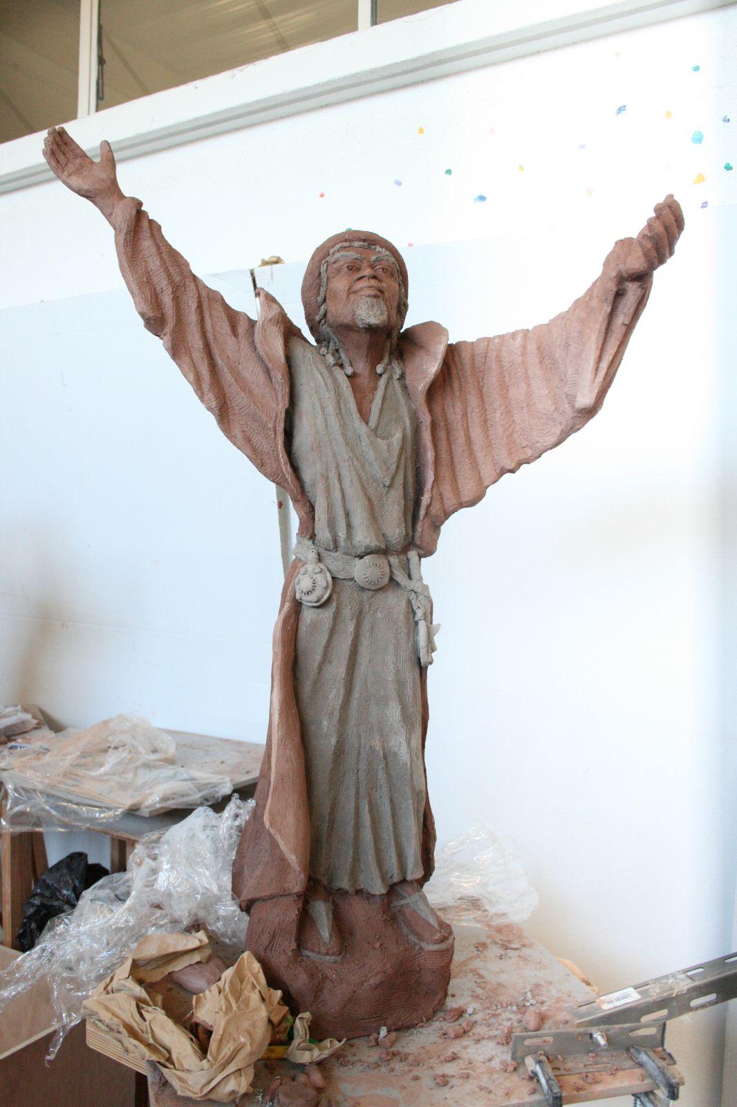 Sculpture argile de santons pour la crèche de Pacy sur eure