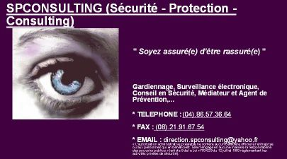 CARTE DE VISITE - SPCONSULTING (Sécurité - Protection - C