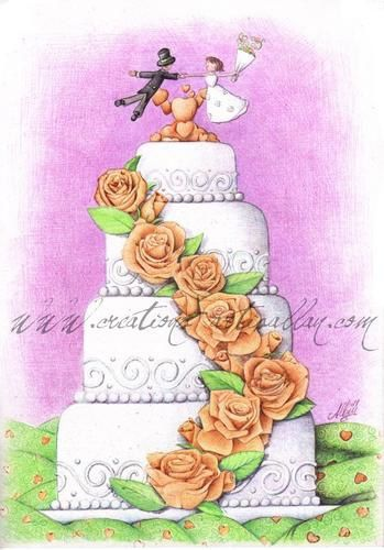 - wedding Cake - - Creations Artis Allan , le Journal du Site