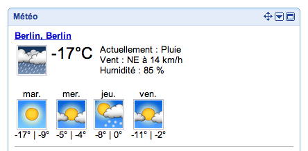On a froid!