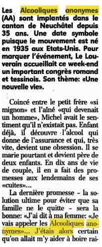 HISTOIRE 1007 l'express neuchâtel 25 08 1997-