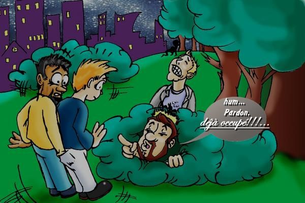 dessin lieu de drague gay