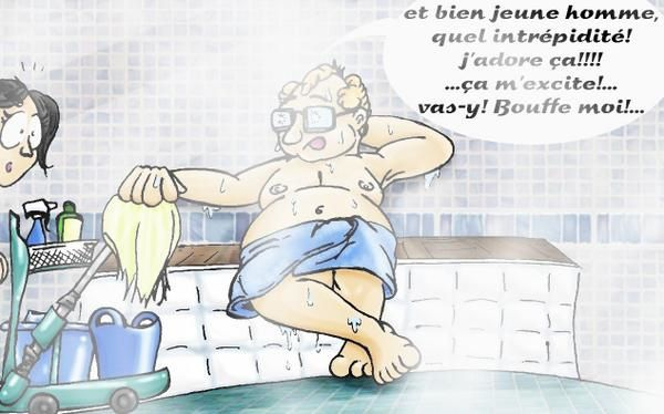 drawing dessin gay sauna humour