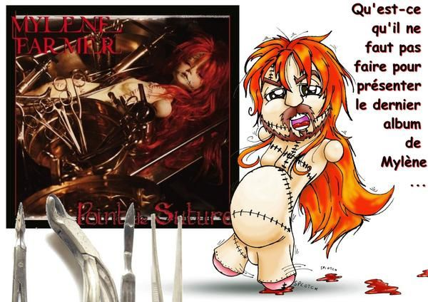 dessin drawing poppo mylene farmer new nouveau album point de suture