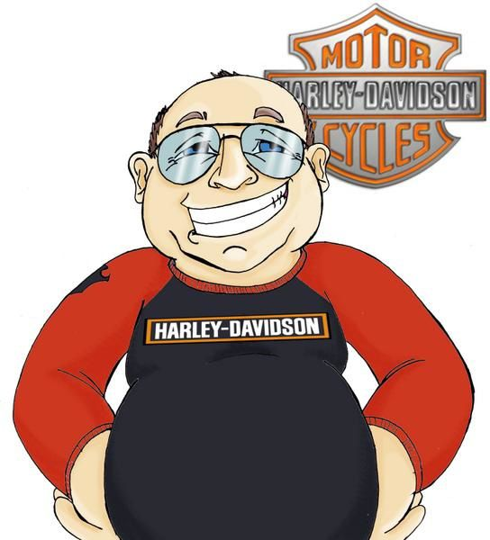 dessin philippe 50 ans harley