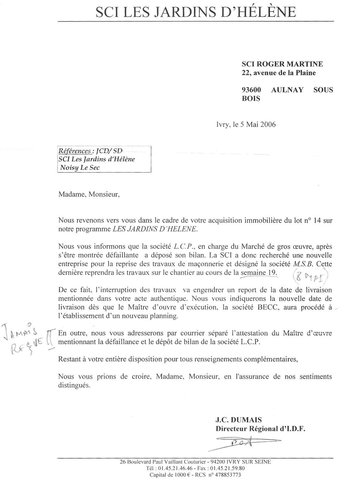 Doc lettre de mise en demeure travaux - Mise en demeure paris ...
