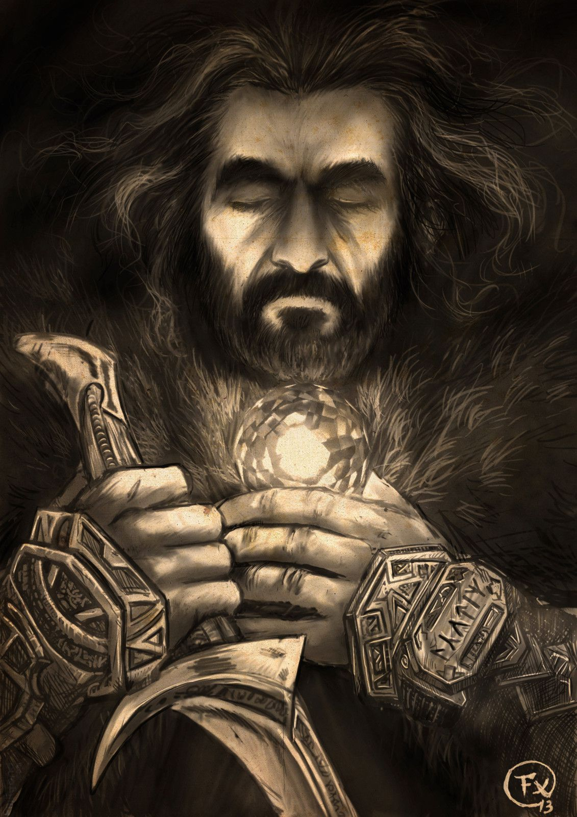 Thorin king under the Mountain by Effix