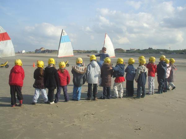 La Fin Du Stage De Char A Voile Ecole Saint Joseph Dunkerque