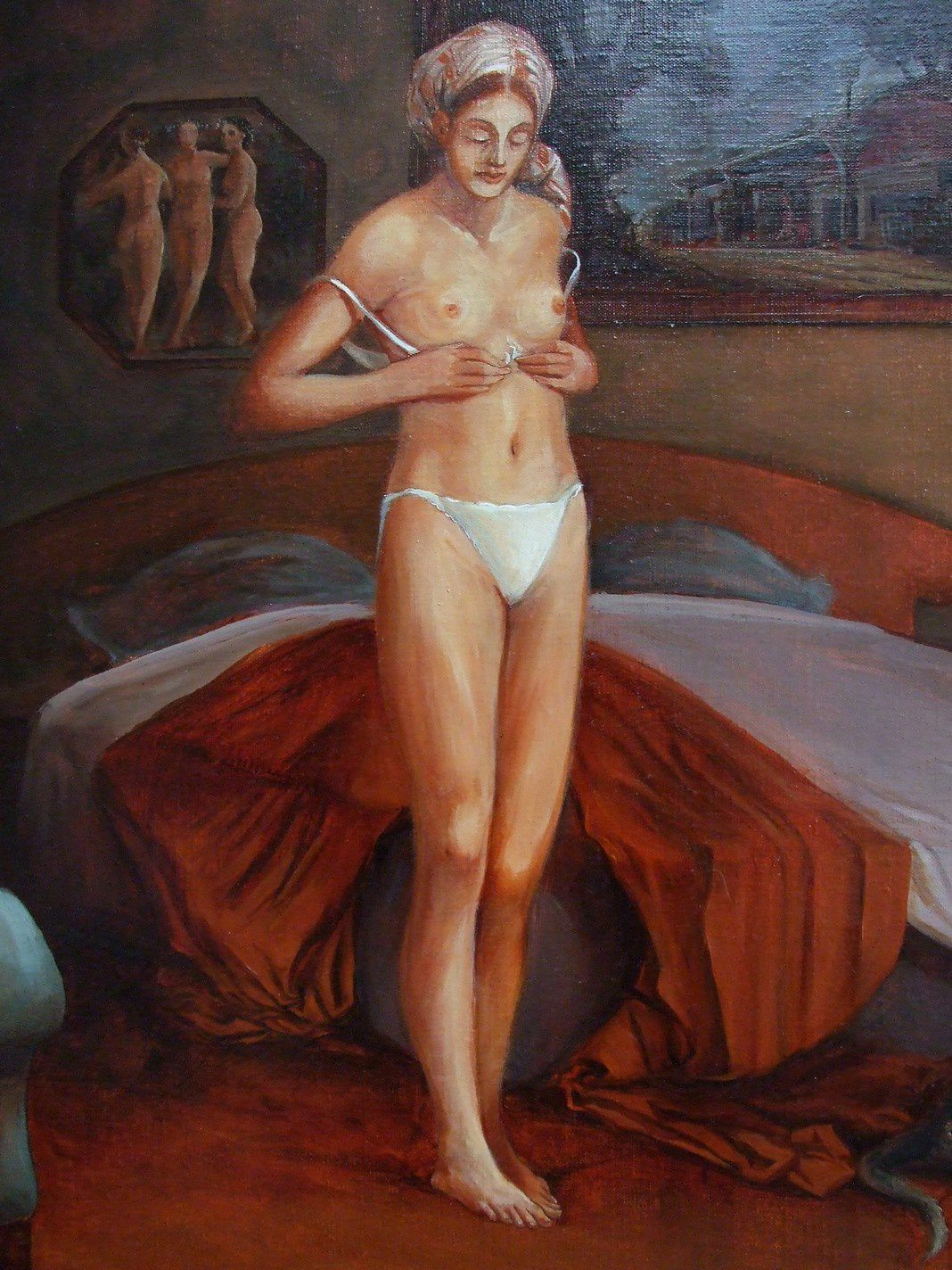 L'intimité de la femme Détail Huile sur toile 10-copie-1