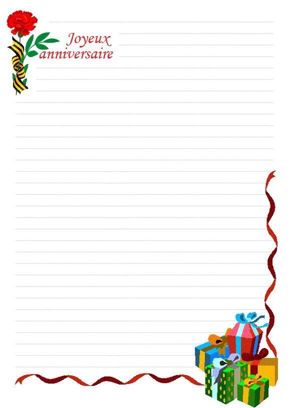 papier à lettre bonne fete