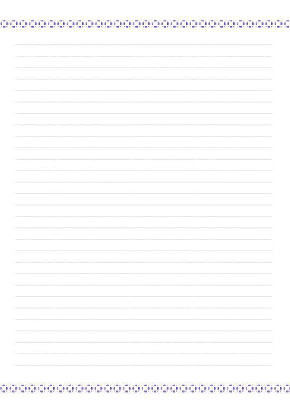 Bien-aimé papier a lettres - letter paper - L'univers dans un nuage PK83