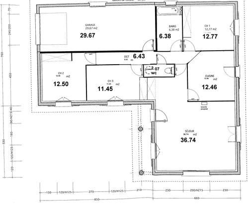 Plans Dfinitifs Et Implantation Maison  Construction Maison