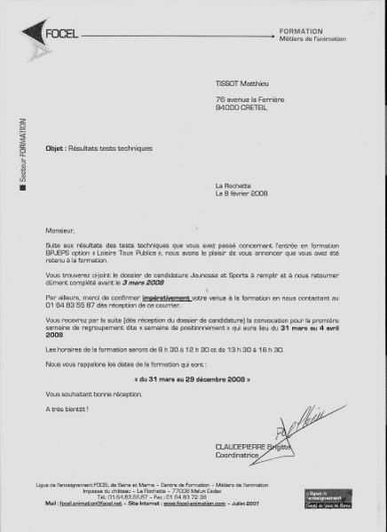 modele lettre de motivation formation bpjeps