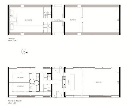 Plan contemporaine multiviews btp for Plan maison minimaliste