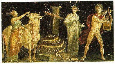 détail de la fresque de la maison des Vettii, Pompéi