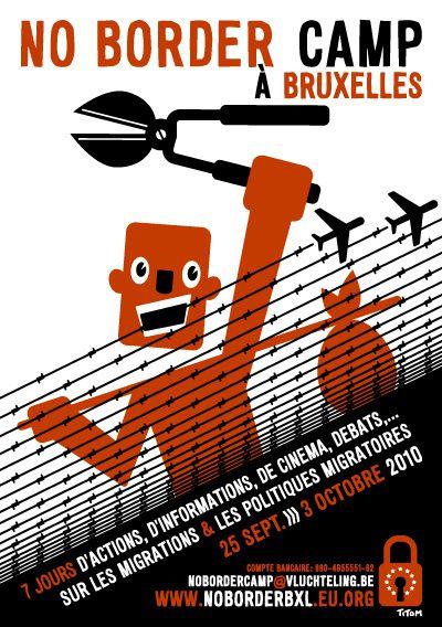 Affiche NoBorderBruxelles web
