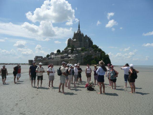 Mâle-Mont Saint Michel 28 juin 2009 Traversée de la baie