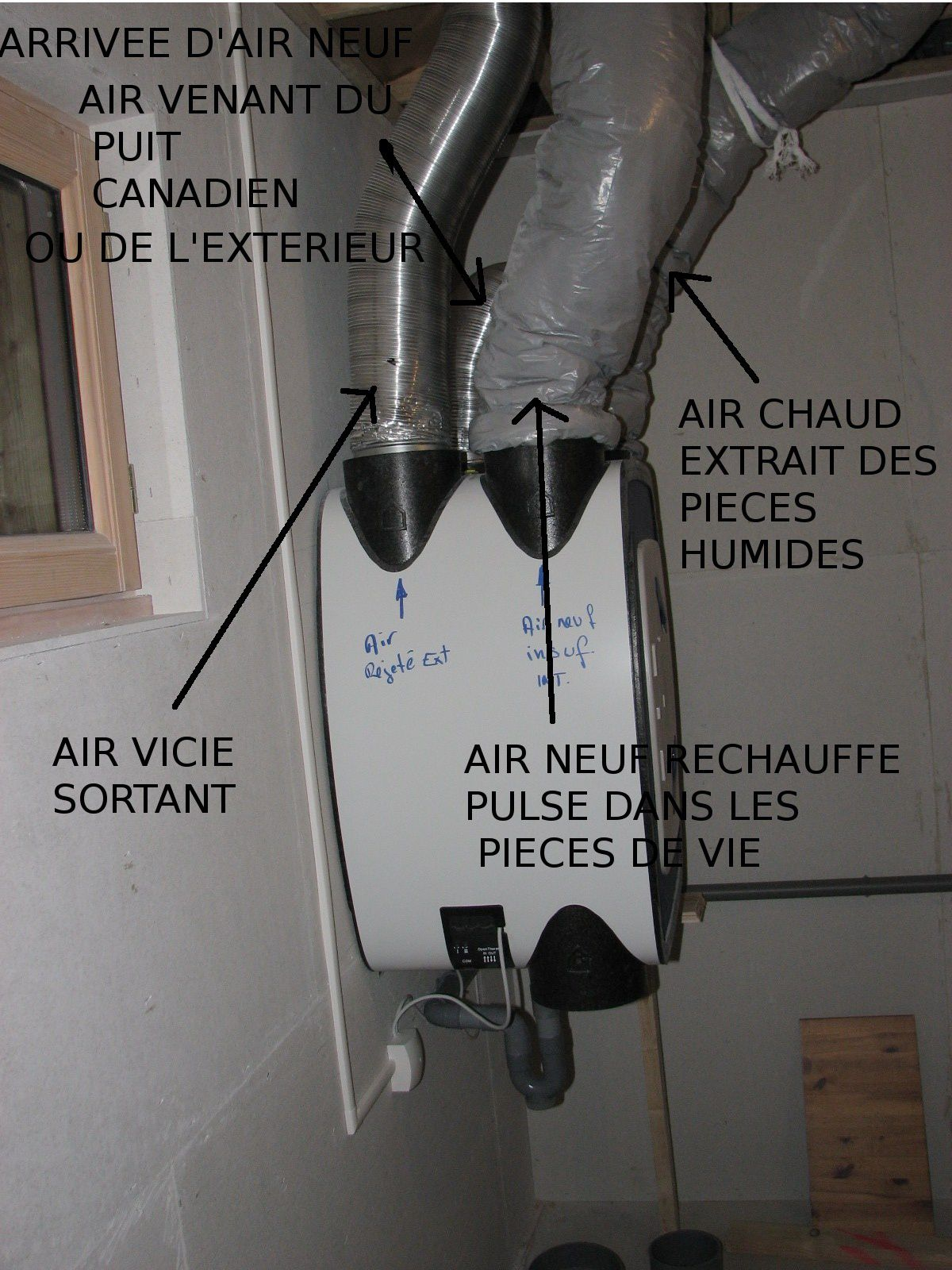 La vmc double flux fonctionne notre maison ossature bois Consommation electrique vmc