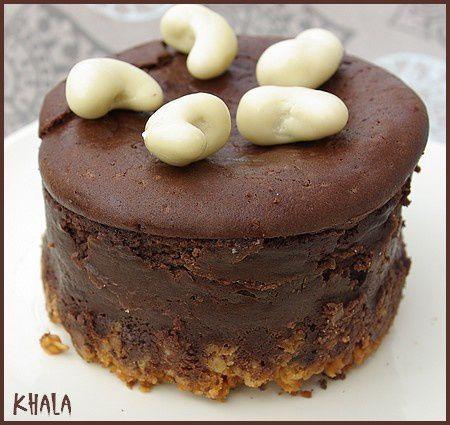 cheese cake au chocolat et au tofu soyeux le de khala