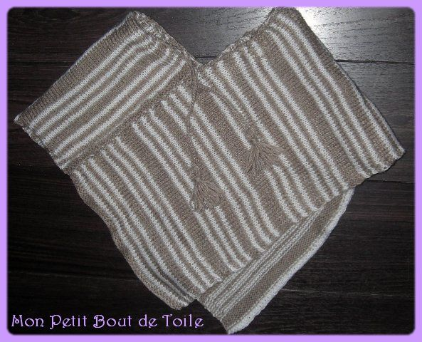 assemblage poncho tricot