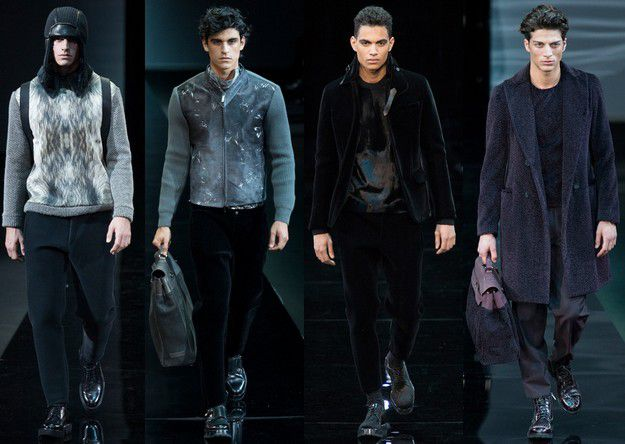 EMPORIO ARMANI FALL WINTER 2014 2015 MENSWEAR MILAN FASHIO