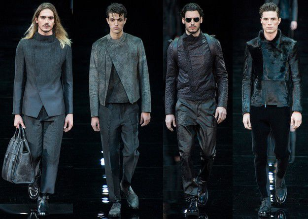 EMPORIO ARMANI FALL WINTER 2014 2015 MENSWEAR MILAN FASHION